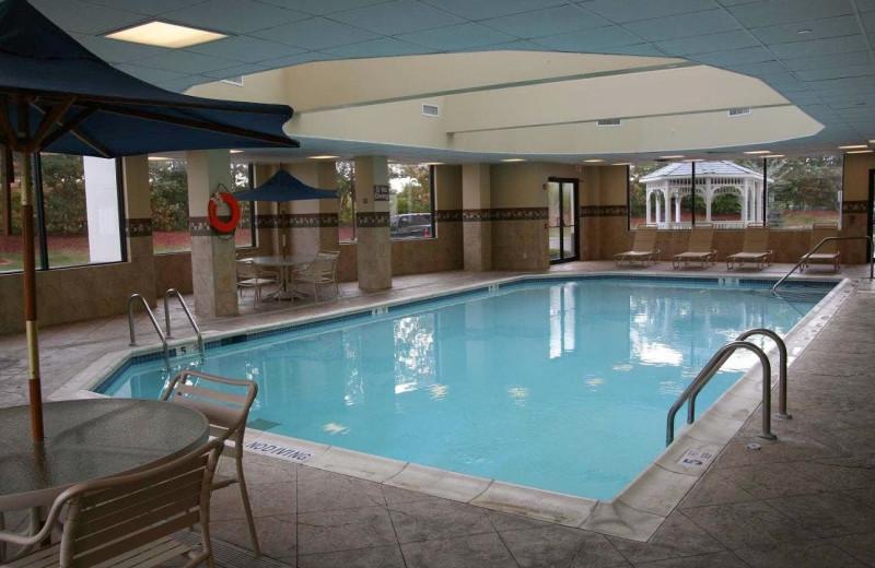 Indoor pool at Hampton Inn Long Island-Brookhaven.