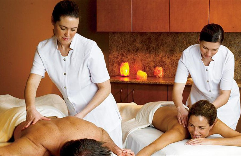 Couple's massage at Mayne Island Resort and Spa.