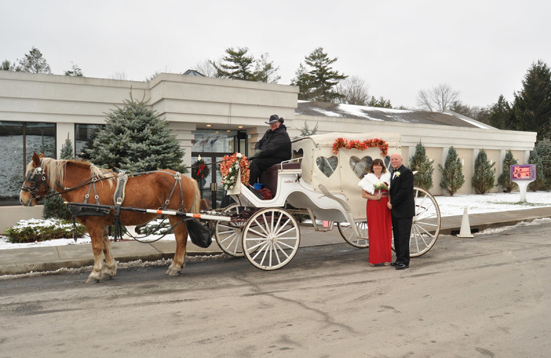 Wedding carriage at Cove Haven Entertainment Resorts