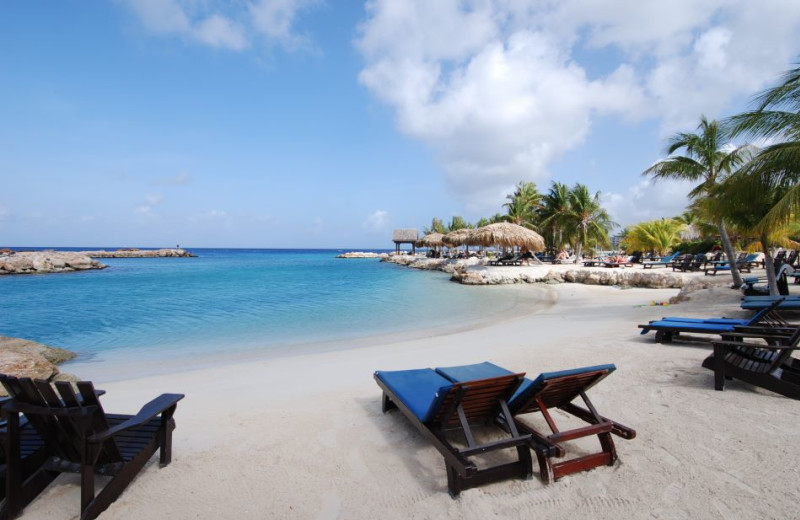 Beach at Lions Dive Hotel Curacao.