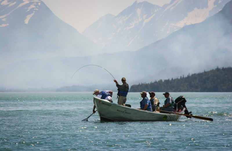 Fishing at Kenai Backcountry Lodge.
