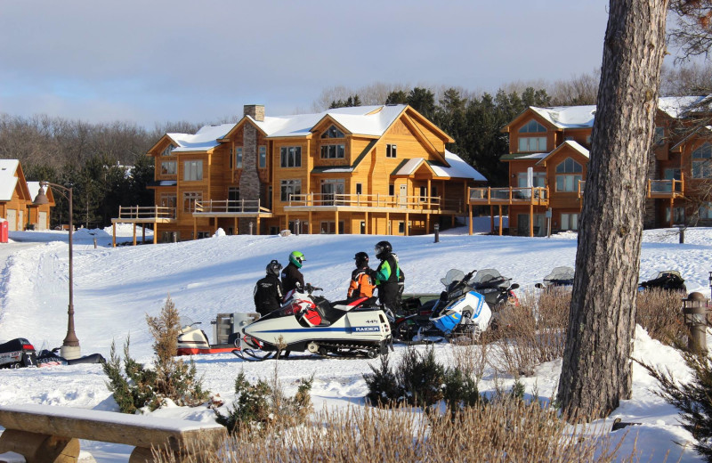 Winter exterior at Big Sandy Lodge & Resort.