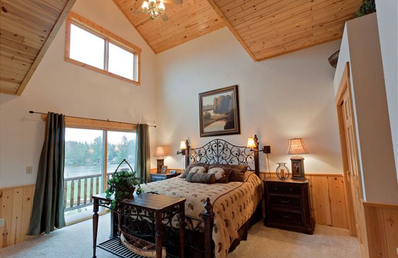 Rental bedroom at The Conger Collection.