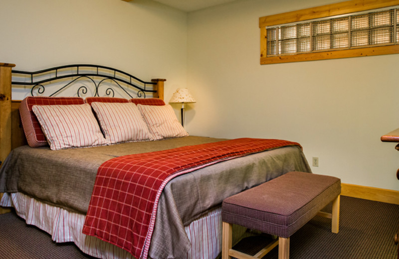 Guest bedroom at The Homestead.