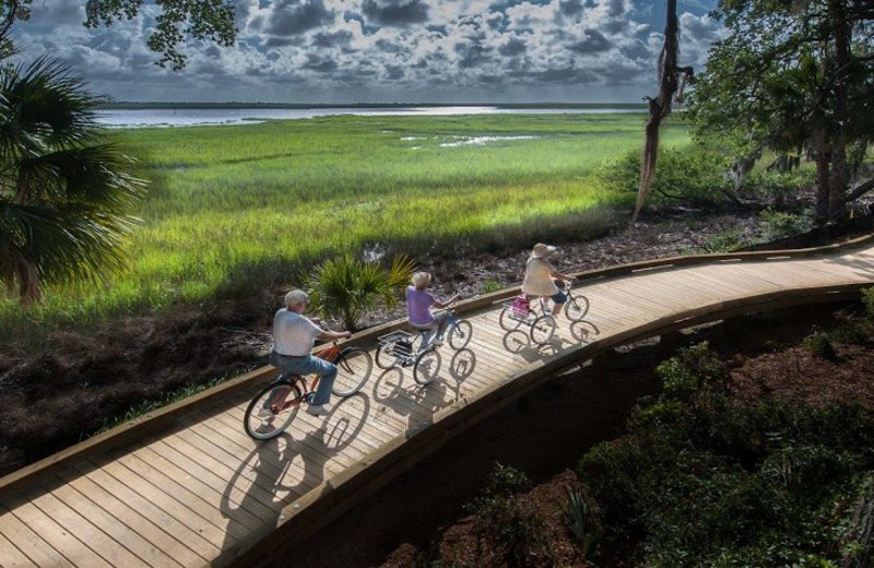 Biking trail at Westin Jekyll Island