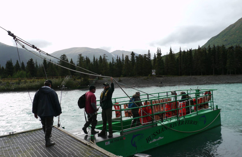 Fishing trip at Gwin's Lodge & Kenai Peninsula Charter Booking Service.
