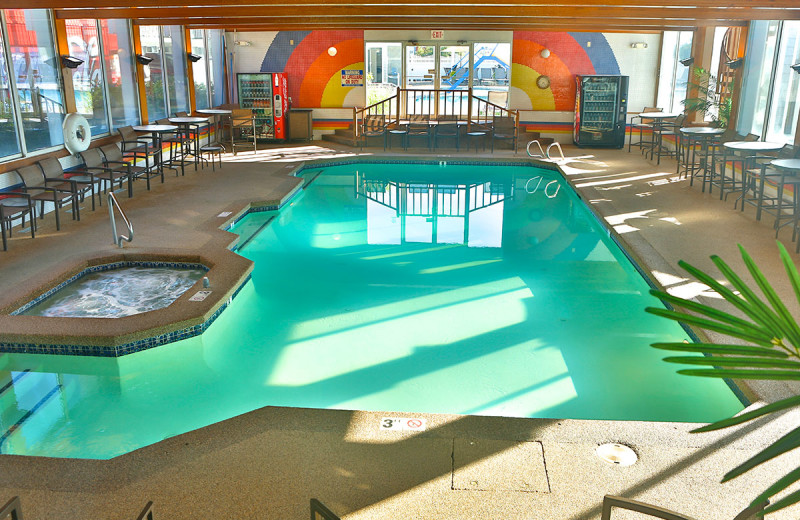 Indoor pool at Anchorage Inn.
