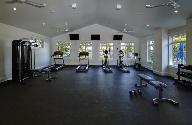 Fitness room at Sandbanks Summer Village Cottage Resort.