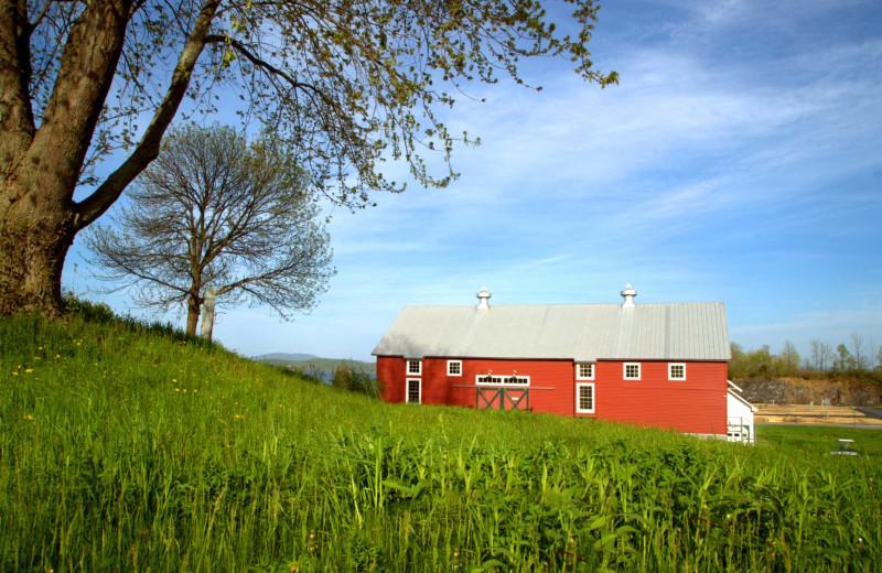 Barn exterior at Apple Island Resort.