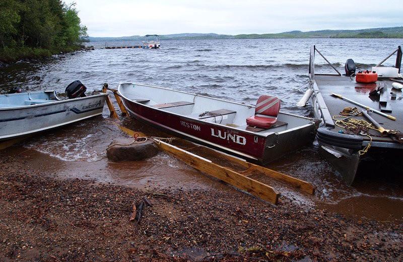 Fishing boats at Heston's Lodge.