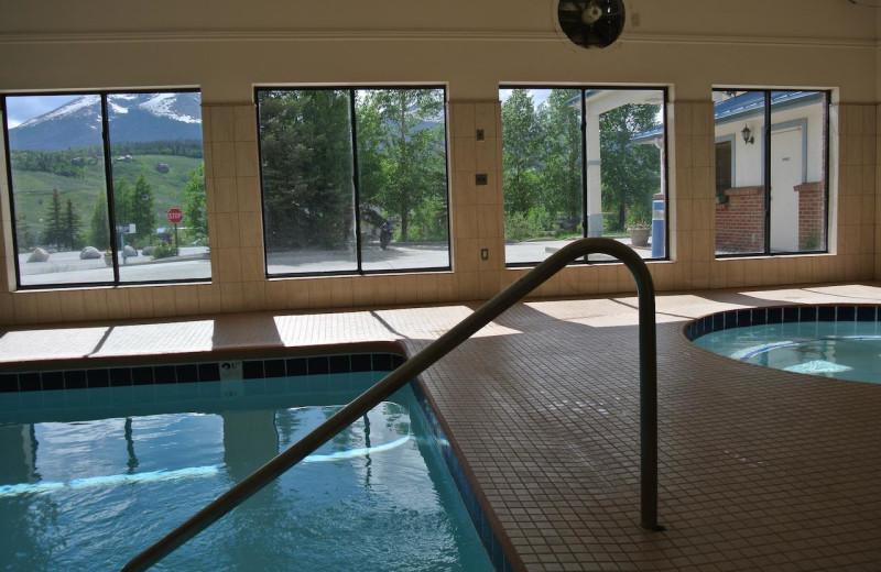 Indoor pool at Luxury Inn and Suites.