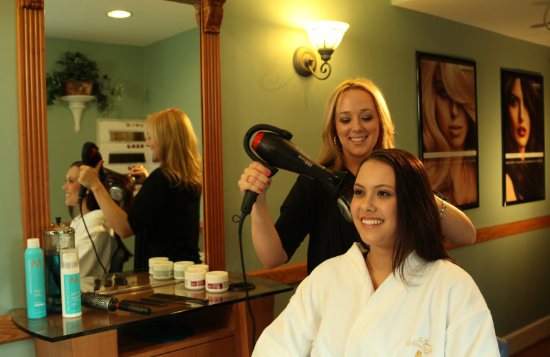 Hair drying at The Spa at Norwich Inn.