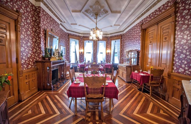 Dining room at Reynolds Mansion B & B.