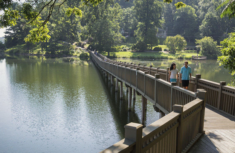 Lake Junaluska Conference and Retreat Center offers a 3.8-mile lakeside walking trail with a 2.3-mile interior loop trail.