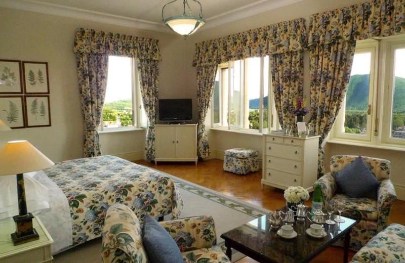 Guest room at Grand Hotel Palazzo della Fonte.