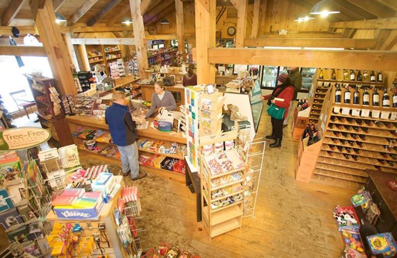 Gift shop at Jiminy Peak Mountain Resort.