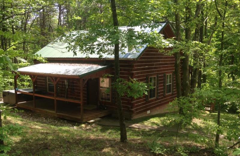 Cabin exterior at Aspen Ridge.