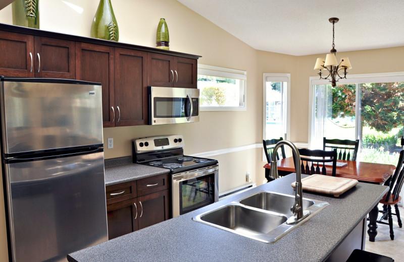 Guest kitchen at Ocean Trails Resort.