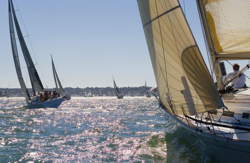 Sailing at Green Turtle Bay Resort & Marina.