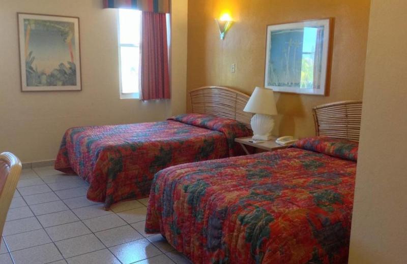 Guest room at El Buen Cafe Hotel.