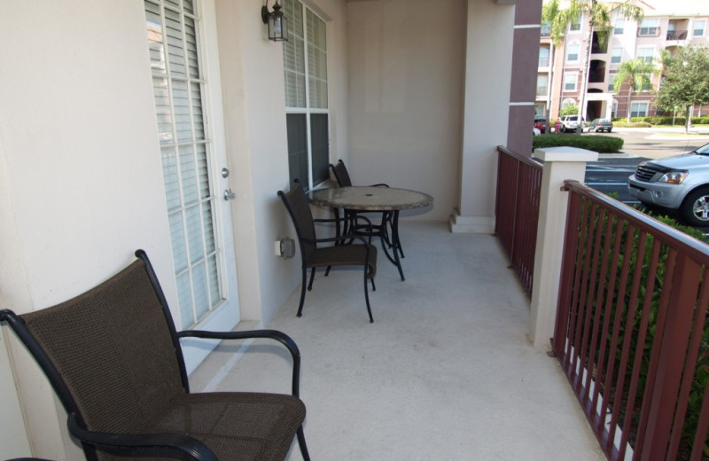 Vacation rental porch at Casiola Vacation Homes.