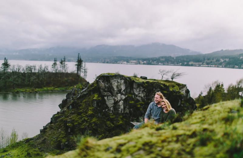 Couple hiking at Adobe Resort.