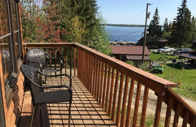 Cabin deck at Pine Tree Cove Resort.