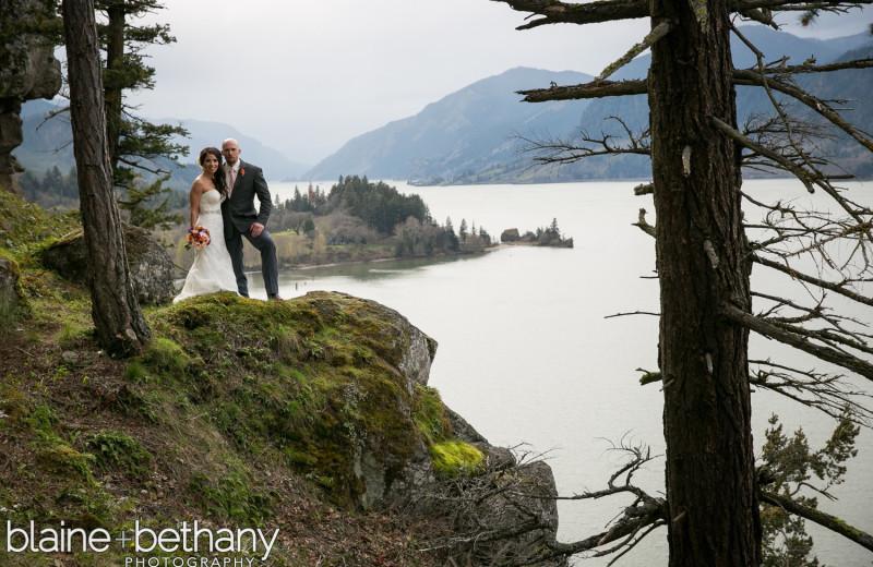 Wedding couple at Westcliff Lodge.