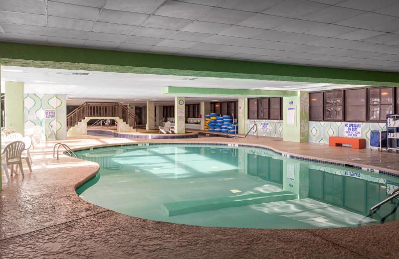 Indoor pool at Long Bay Resort.