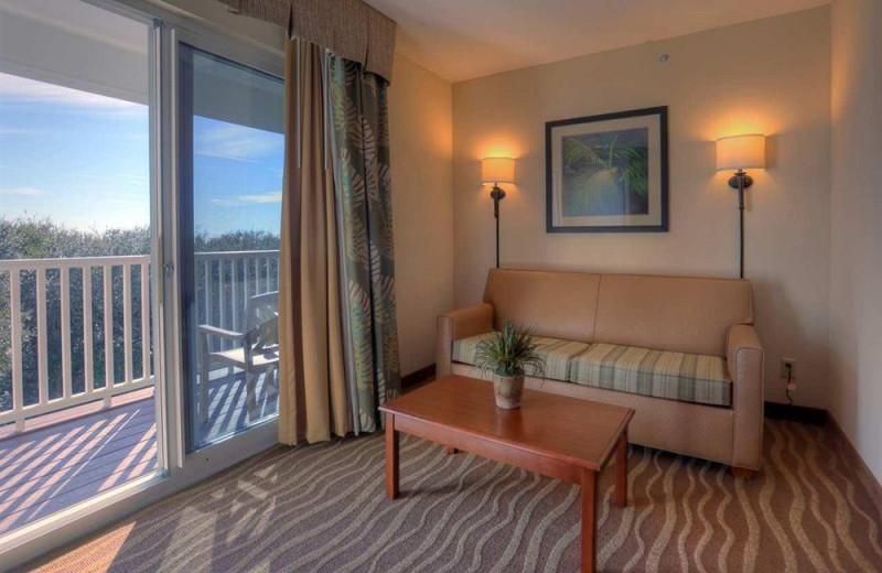 Guest room at Hampton Inn & Suites Jekyll Island.