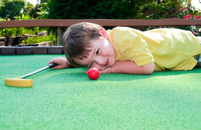 Mini golf at Stony Brook Cabins LLC.
