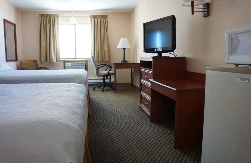 Guest room at Luxury Inn and Suites.