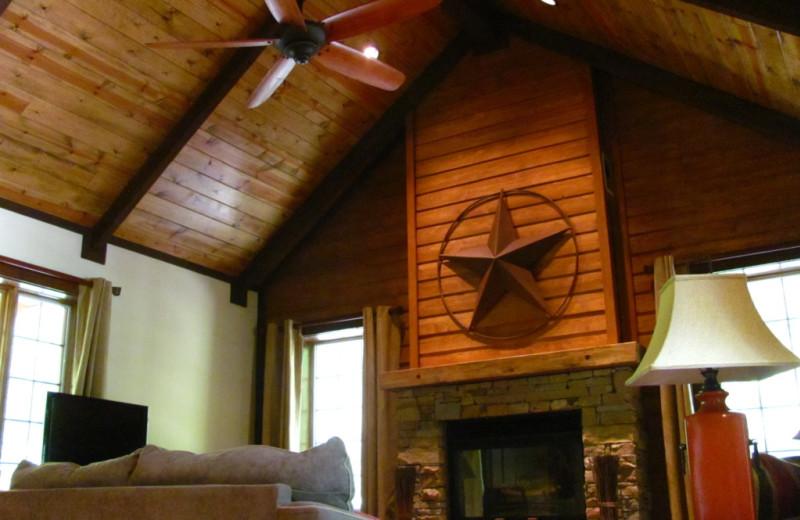 Rental living room at Highland Rim Retreats.