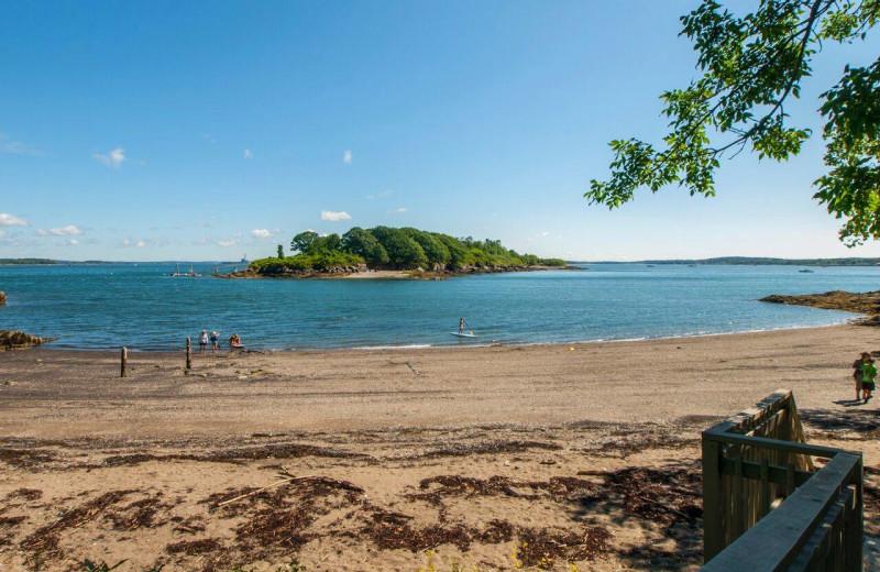 Beach at Inn at Diamond Cove.