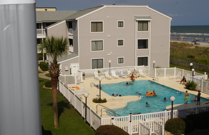 Rental pool at McMillan Oceanfront & Beach Rentals.
