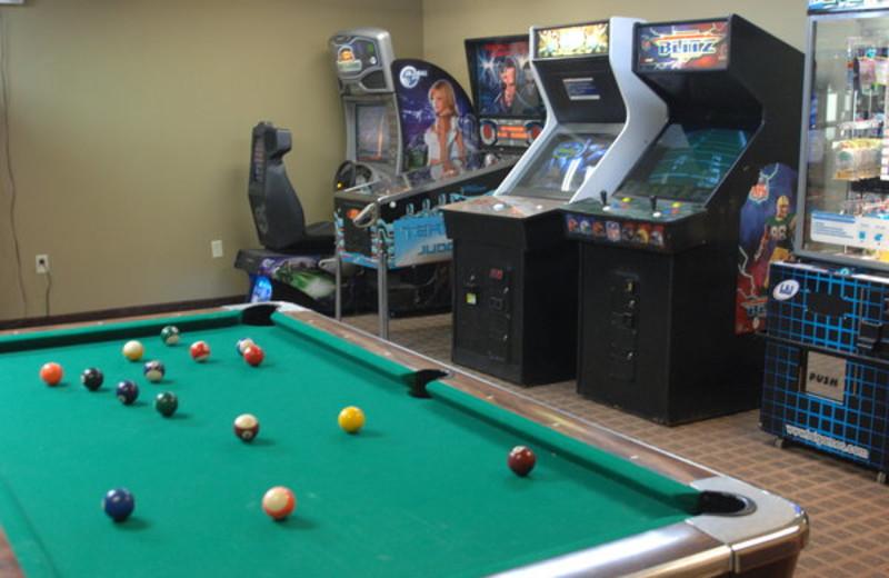 Game room at Inn at Grand Glaize.