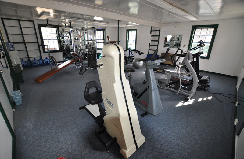Fitness room at Three Stallion Inn.