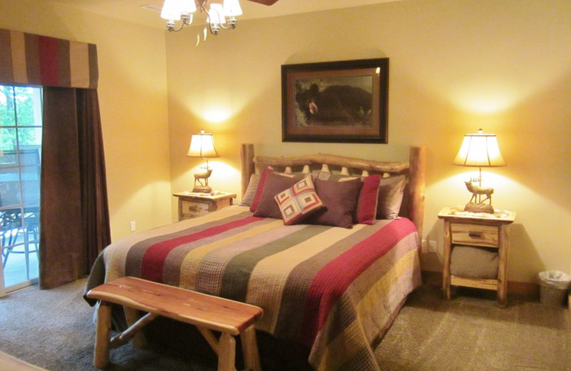 Guest bedroom at Vickery Resort On Table Rock Lake.
