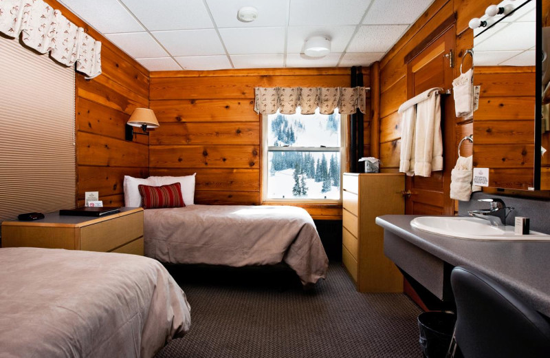 Guest room at Alta Lodge.