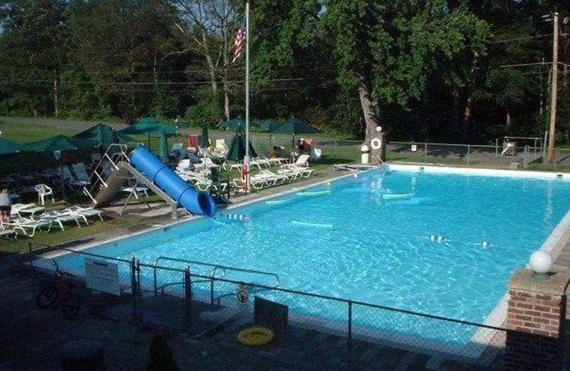 Outdoor pool at Baumann's Brookside Summer Resort.