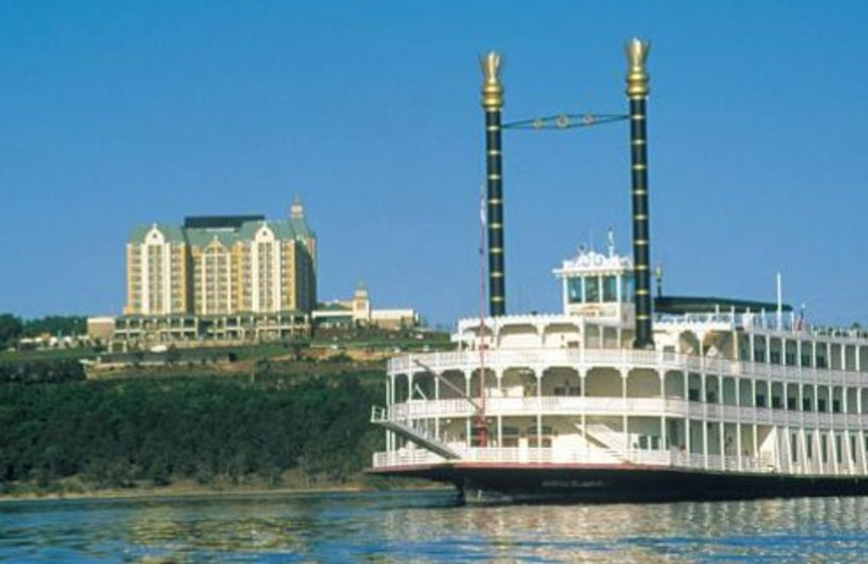 Enjoy a paddlewheel boat dinner cruise near by Angel Inn of Branson.