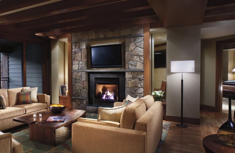 Suite interior at Ritz-Carlton Lake Tahoe.