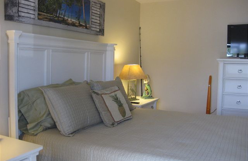 Vacation bedroom at Harborview Rentals.