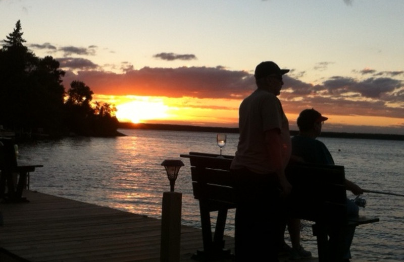 Lake sunset at Pine Tree Cove Resort.