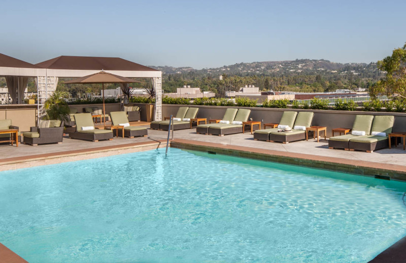 Outdoor pool at Raffles L'Ermitage Beverly Hills.