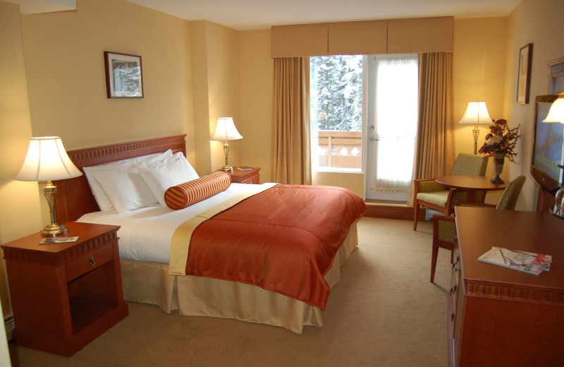 Guest room at Sun Peaks Lodge.
