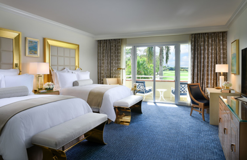 Guest room at Trump National Doral Miami.