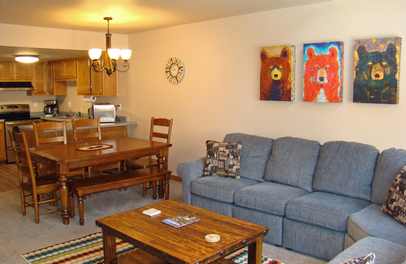 Guest living room at Ferringway Condominiums.