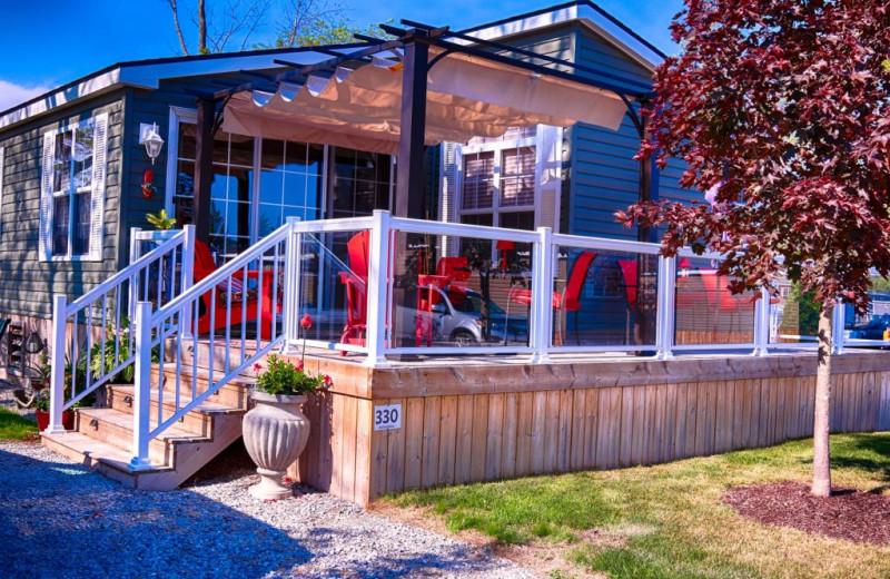 Cabin exterior at Great Blue Resorts- Vine Ridge Resort.