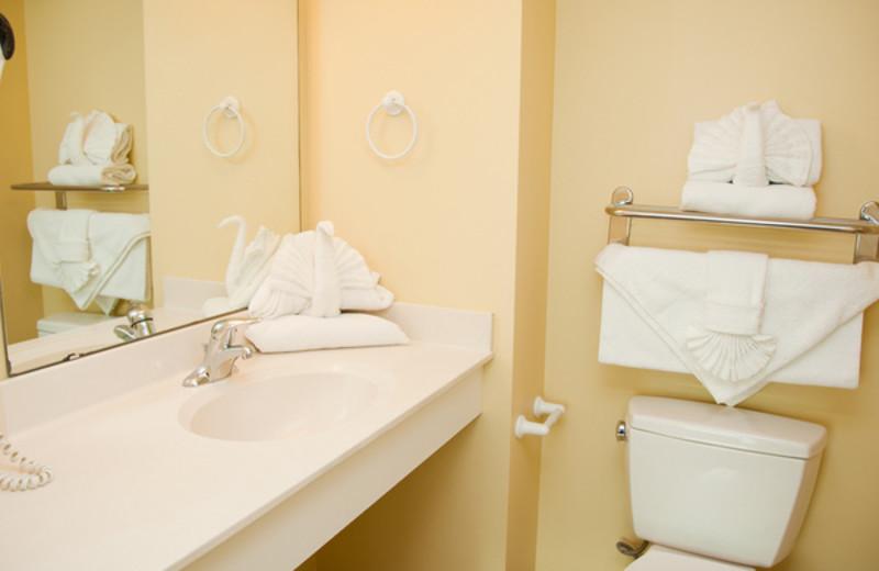 Guest bathroom at Avista Resort.